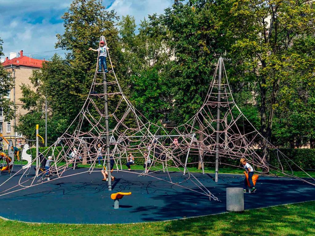 Веревочные детские площадки